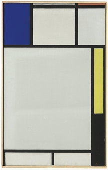 PIET MONDRIAN (1872-1944)  Composition avec bleu, rouge, jaune et noir, 1922 Christie's Paris - 21,5 mln. EUR Źródło: www.content.time.com
