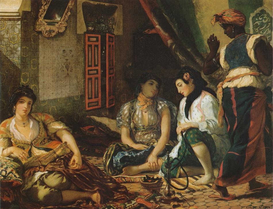 Eugène DELACROIX, Kobiety z Algierii w swoim apartamencie, 1834 r. Luwr, Paryż Źródło: www.wikipedia.com