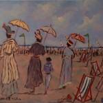 Henry SAINT-CLAIR [1899-1990]  Na plaży Źródło: www.artykwariat.pl
