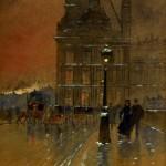 Jean-Jacques Francisque GARAT [1853 - ok. 1914 ]  Przed Luwrem Źródło: www.artykwariat.pl