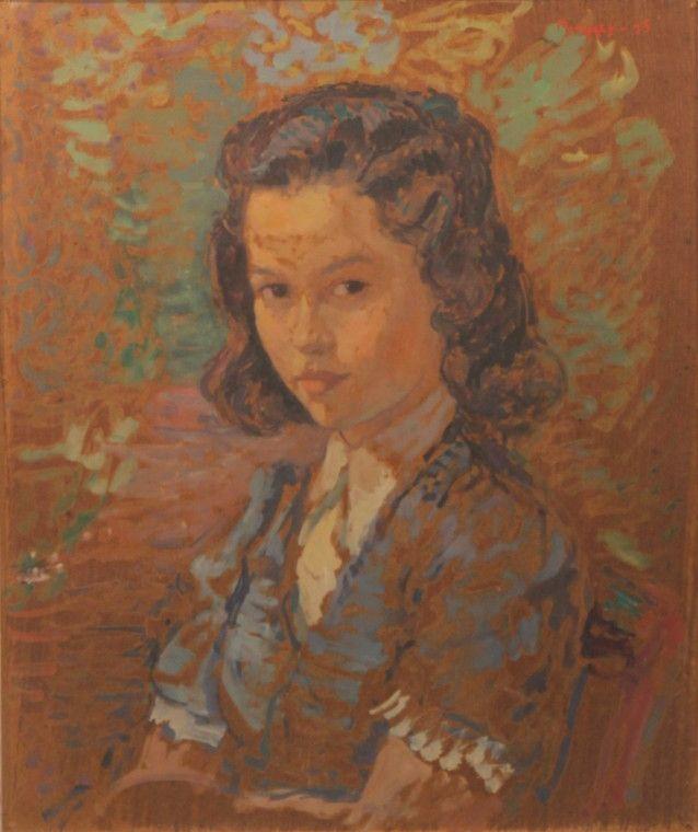 Maurice Mendjizky [1890-1951]  Portret młodej dziewczyny, 1935/ 1945? r. Źródło: www.artykwariat.pl