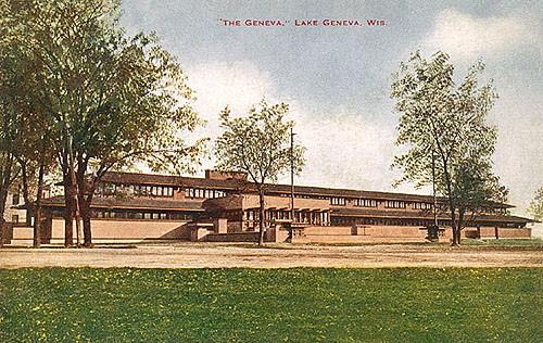 2. Prawdopodobnie jedno z najwcześniejszych zdjęć Lake Geneva Hotel, 1912