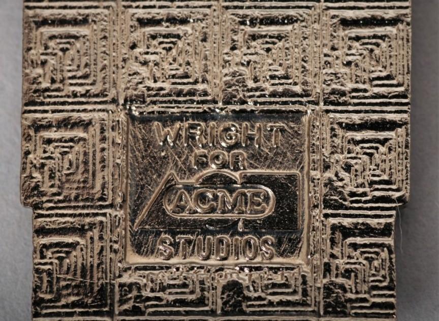 6. Kolczyki w stylistyce Art deco, XX w., proj. Frank Lloyd Wright ACME STUDIO metal/emalia. REWERS