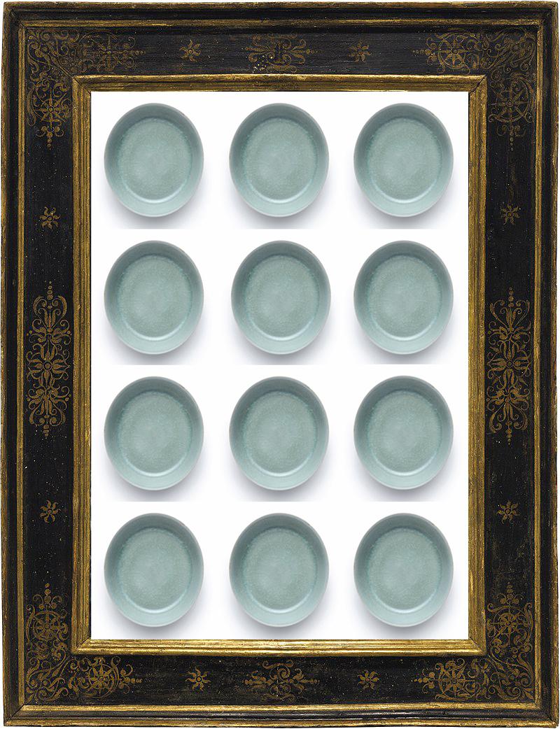 Leonardo płucze pędzle w 12 miseczkach porcelanowych z dynastii Song