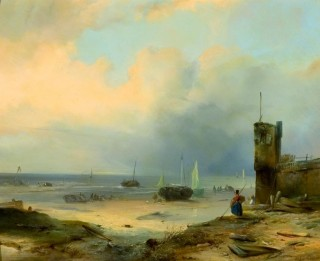 THE NETHERLANDS, HERE I AM 19th century painting